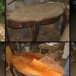 Renowacja stolika - wymiana forniru na blacie-slider