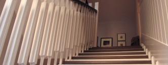 schody z dębowymi schodami, poręczami z buku